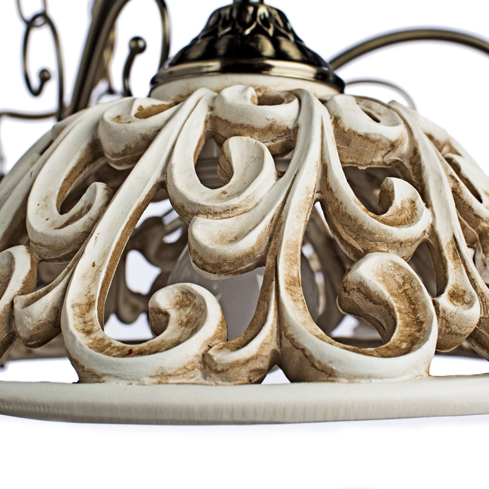 Arte Lamp Carved A5387LM-6AB, 6xE27x60W, бежевый - фото 3