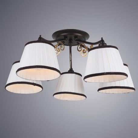 Arte Lamp Capri A6344PL-5BR, 5xE14x40W, белый - миниатюра 1
