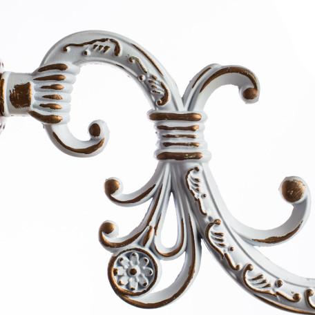 Бра Arte Lamp Delizia A1032AP-1WG, 1xE27x60W, белый, матовое золото, металл, стекло - миниатюра 4