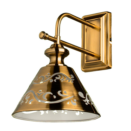 Бра Arte Lamp Kensington A1511AP-1PB, 1xE14x40W, медь, металл