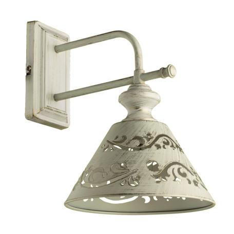 Бра Arte Lamp Kensington A1511AP-1WG, 1xE14x40W, белый с золотой патиной, белый, металл