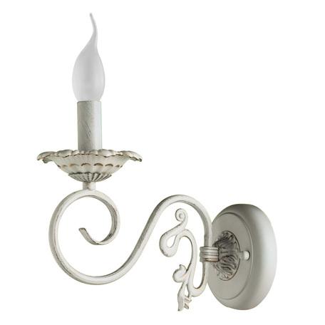 Бра Arte Lamp Tilly A5333AP-1WG, 1xE14x40W, белый с золотой патиной, металл, керамика