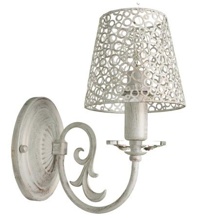 Бра Arte Lamp Ragnatela A5468AP-1WG, 1xE27x60W, белый с золотой патиной, металл