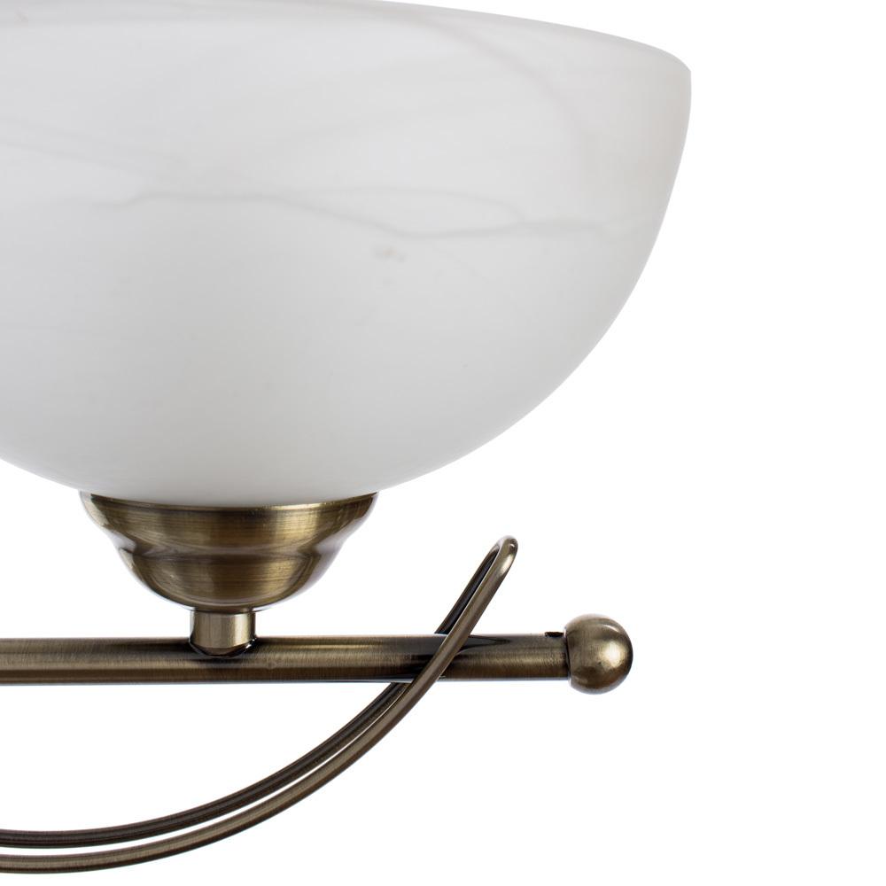Бра Arte Lamp Ninna A8615AP-1AB, 1xE14x40W, бронза, белый, металл, стекло - фото 3
