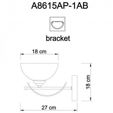 Схема с размерами Arte Lamp A8615AP-1AB