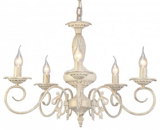 Arte Lamp Tilly A5333LM-5WG, 5xE14x40W, белый с золотой патиной, металл, керамика - фото 1