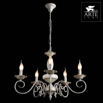 Arte Lamp Tilly A5333LM-5WG, 5xE14x40W, белый с золотой патиной, металл, керамика - миниатюра 3