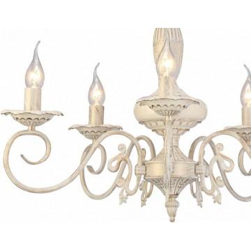 Arte Lamp Tilly A5333LM-5WG, 5xE14x40W, белый с золотой патиной, металл, керамика - миниатюра 5