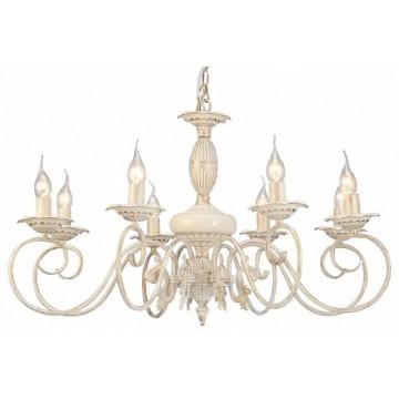 Arte Lamp Tilly A5333LM-8WG, 8xE14x40W, белый с золотой патиной, металл, керамика