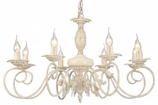 Arte Lamp Tilly A5333LM-8WG, 8xE14x40W, белый с золотой патиной, металл, керамика - фото 1