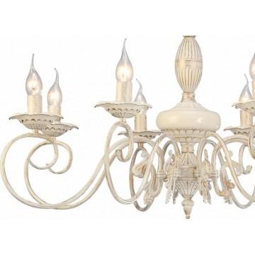 Arte Lamp Tilly A5333LM-8WG, 8xE14x40W, белый с золотой патиной, металл, керамика - миниатюра 2