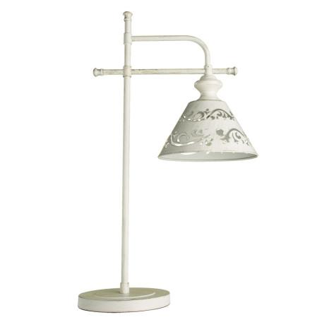Настольная лампа Arte Lamp Kensington A1511LT-1WG, 1xE14x40W, белый с золотой патиной, белый, металл