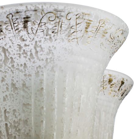 Подвесная люстра Arte Lamp Delizia A1032LM-5WG, 5xE27x60W, белый, матовое золото, металл, стекло - миниатюра 3