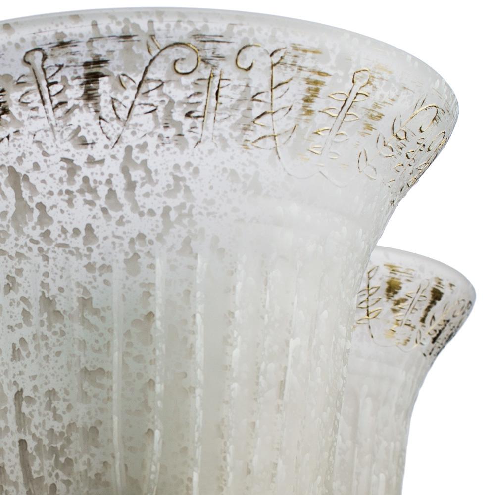 Подвесная люстра Arte Lamp Delizia A1032LM-5WG, 5xE27x60W, белый, матовое золото, металл, стекло - фото 3