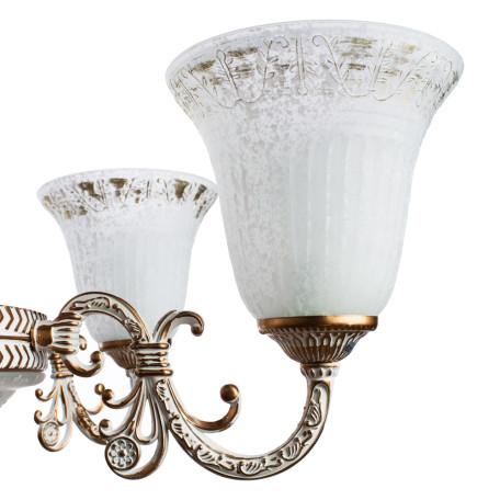 Подвесная люстра Arte Lamp Delizia A1032LM-6-3WG, 9xE27x60W, белый с золотом, белый, металл, стекло - миниатюра 5