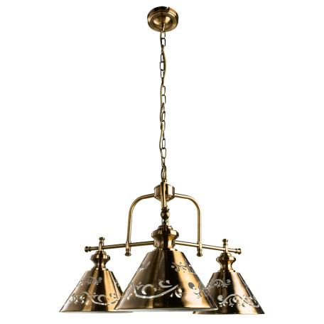 Подвесная люстра Arte Lamp Kensington A1511LM-3PB, 3xE14x40W, медь, металл