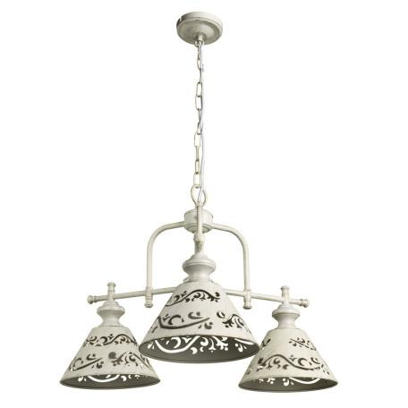 Подвесная люстра Arte Lamp Kensington A1511LM-3WG, 3xE14x40W, белый с золотой патиной, белый, металл