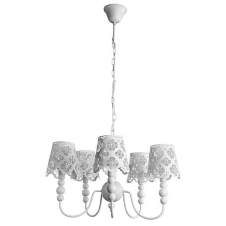 Подвесная люстра Arte Lamp Maestro A2030LM-5WA, 5xE14x40W, белый, металл