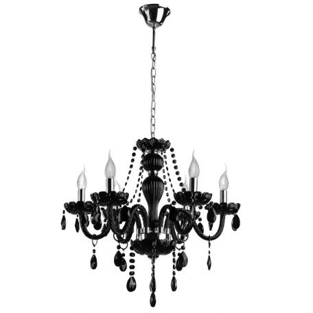 Подвесная люстра Arte Lamp Teatro A3964LM-6BK, 6xE14x60W, черный, стекло