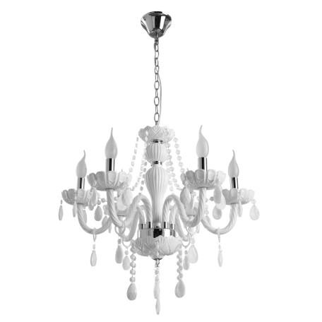 Подвесная люстра Arte Lamp Teatro A3964LM-6WH, 6xE14x60W, белый, стекло