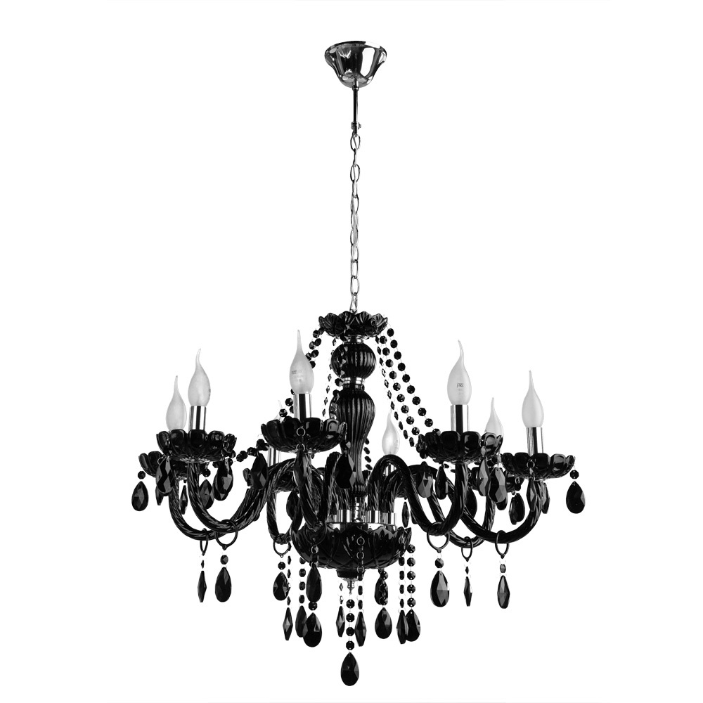 Подвесная люстра Arte Lamp Teatro A3964LM-8BK, 8xE14x60W, черный, стекло - фото 1