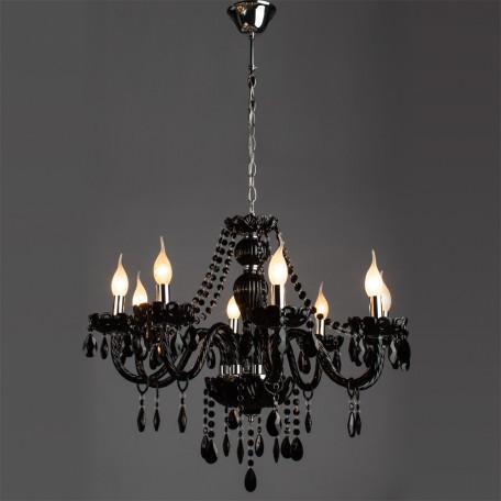 Подвесная люстра Arte Lamp Teatro A3964LM-8BK, 8xE14x60W, черный, стекло - миниатюра 2