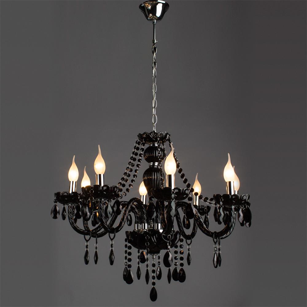 Подвесная люстра Arte Lamp Teatro A3964LM-8BK, 8xE14x60W, черный, стекло - фото 2