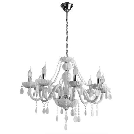 Подвесная люстра Arte Lamp Teatro A3964LM-8WH, 8xE14x60W, белый, стекло