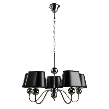 Подвесная люстра Arte Lamp Turandot A4011LM-5CC, 5xE14x40W, хром, золото, черный, металл, текстиль
