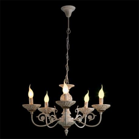 Подвесная люстра Arte Lamp Faina A5326LM-5WG, 5xE14x40W, белый, белый с золотой патиной, золото, керамика, металл - миниатюра 2