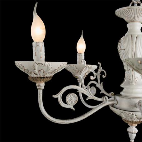 Подвесная люстра Arte Lamp Faina A5326LM-5WG, 5xE14x40W, белый, белый с золотой патиной, золото, керамика, металл - миниатюра 4