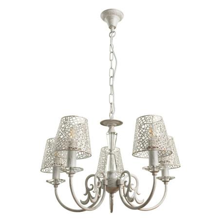 Подвесная люстра Arte Lamp Ragnatela A5468LM-5WG, 5xE27x60W, белый с золотой патиной, металл
