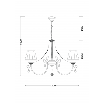 Схема с размерами Arte Lamp A6021LM-7AB