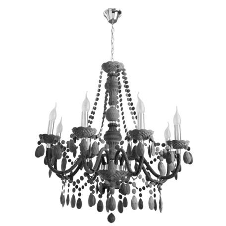 Подвесная люстра Arte Lamp Morris A8888LM-8GY, 8xE14x60W, серый, пластик