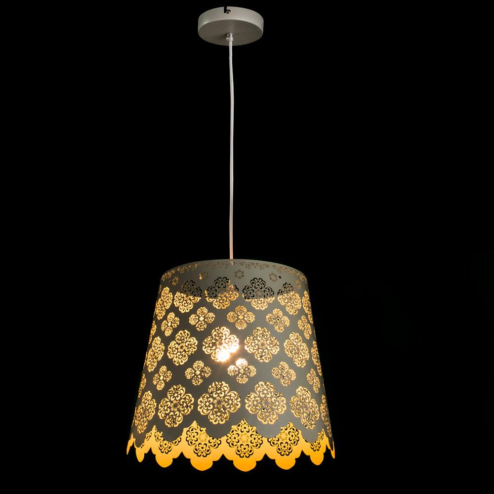 Подвесной светильник Arte Lamp Maestro A2030SP-1WA, 1xE27x75W, белый, металл - фото 2