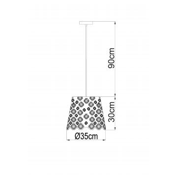 Схема с размерами Arte Lamp A2030SP-1WA