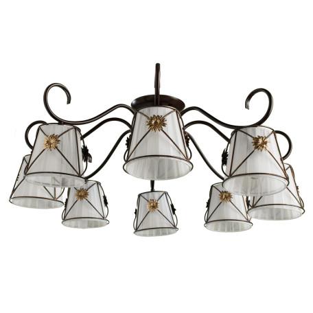 Потолочная люстра Arte Lamp Fortuna A5495PL-8BR, 8xE14x40W, коричневый, металл, текстиль - миниатюра 1