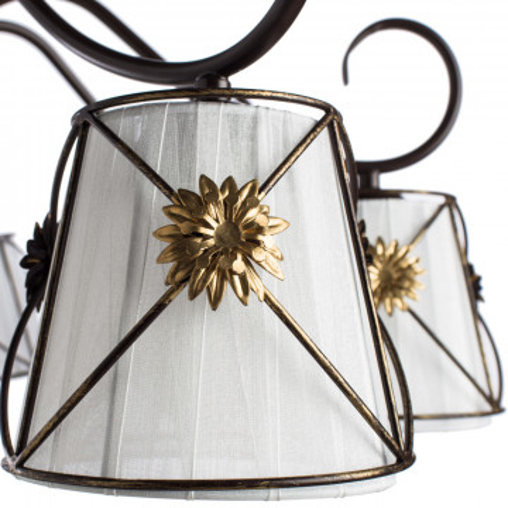 Потолочная люстра Arte Lamp Fortuna A5495PL-8BR, 8xE14x40W, коричневый, металл, текстиль - миниатюра 3