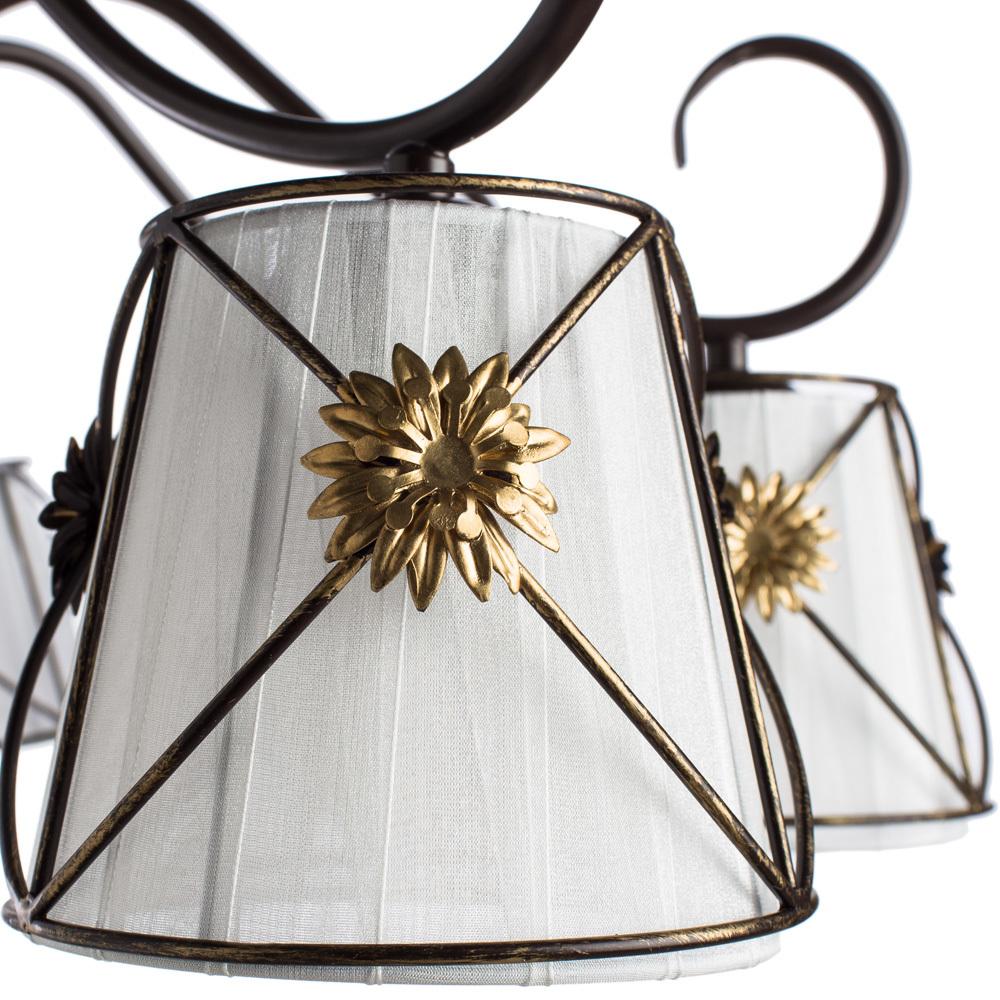 Потолочная люстра Arte Lamp Fortuna A5495PL-8BR, 8xE14x40W, коричневый, металл, текстиль - фото 3