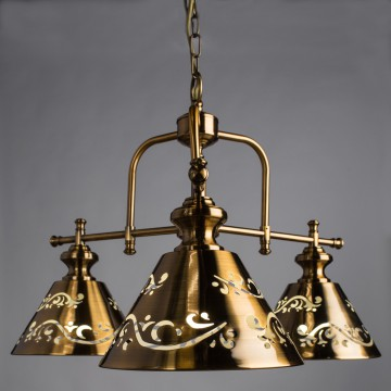 Подвесная люстра Arte Lamp Kensington A1511LM-3PB, 3xE14x40W, бронза золотистая, металл