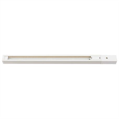 Шинопровод в сборе с питанием и заглушкой Citilux Тубус CL01AT200, белый, металл