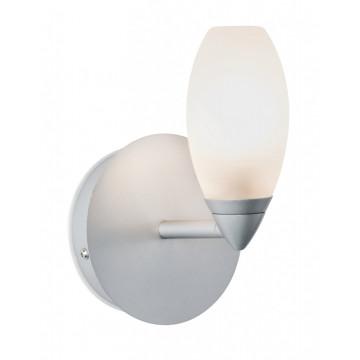 Настенный светильник Paulmann Carina 70838, IP44, 1xG9x28W, матовый хром, белый, металл, стекло