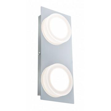 Настенный светодиодный светильник Paulmann Doradus 70883, IP23, LED 9,4W, хром, металл, пластик