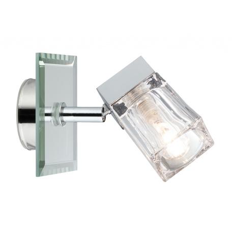 Настенный светильник с регулировкой направления света Paulmann Trabani 70840, IP44, 1xG9x20W, хром, зеркальный, прозрачный, металл, стекло