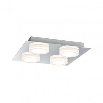 Потолочная светодиодная люстра Paulmann Doradus 70875, IP23, LED 18,8W, хром, металл, пластик