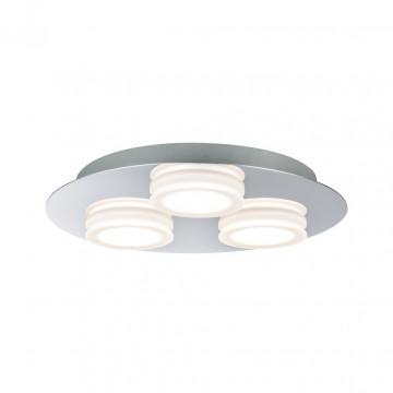 Потолочный светодиодный светильник Paulmann Doradus 70874, IP23, LED 14,1W, хром, металл, пластик