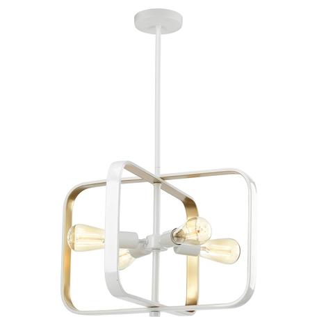 Подвесная люстра Toplight Lois TL1177H-04WH, 4xE27x40W, белый, белый с золотом, металл