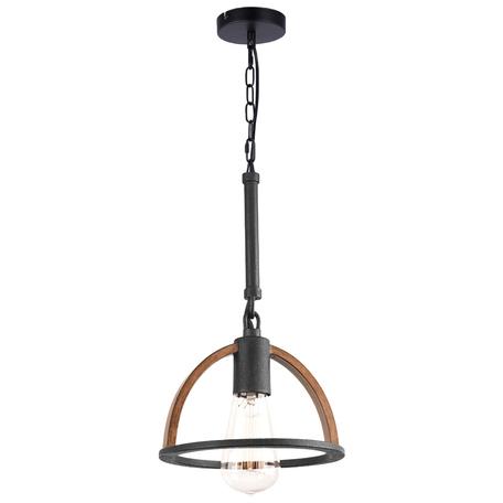 Подвесная люстра Toplight Jasmin TL1179H-01BK, 1xE27x40W, черный, коричневый, металл