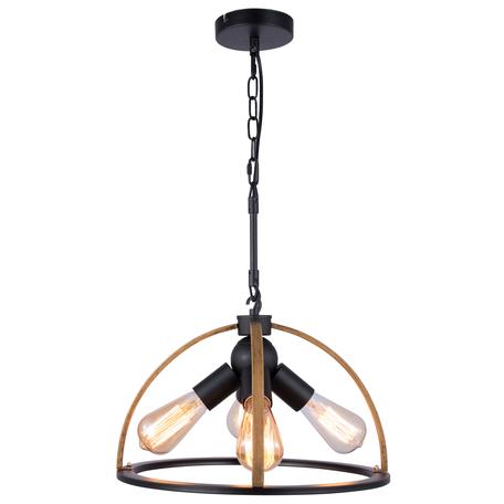 Подвесная люстра Toplight Jasmin TL1179H-04BK, 4xE27x40W, черный, коричневый, металл