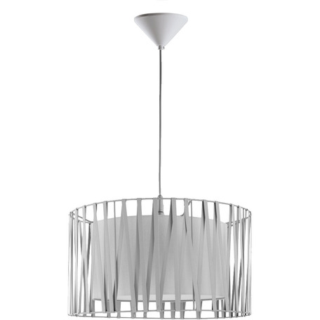 Подвесная люстра Toplight Chloe TL1186H-01WH, 1xE27x40W, белый, металл, текстиль